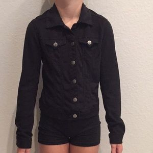 Girls suede black jacket!  Adorable/perfect!!